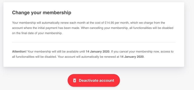 cvmaker cancel membership