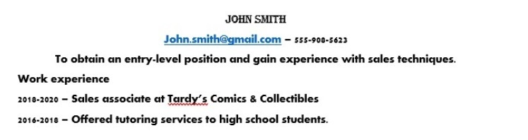 resume tip; choosing the right font